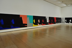"Exposition ""Shadows"", 1978-79, Andy Warhol (1928-1987), muse Guggenheim, Bilbao, Biscaye, Pays Basque, Espagne. (byb64) Tags: bilbao bilbo biscaye viscaya bizkaia biscay biscaglia paysbasque euskadi euskalherria paisvasco espagne espana spain spagna spanien europe europa eu ue nervion museguggenheim museoguggenheim guggenheim gehry frankgehry muse museo museum bi architecture arquitectura arquitettura andywarhol shadows ombres srigraphie warhol 1978 xxe 20th novecento newyork nyc diaartfoundation"