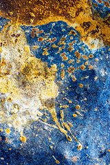 splatter Art 121 (Jae at Wits End) Tags: textured abstract blue color rust texture corroded corrosion line lines metal oxidation oxidized patina pattern rustic rusty shape shapes wear weathered