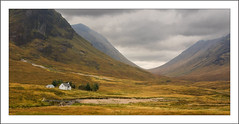Isolation in Glencoe (williamwalton001) Tags: scotland stone steam sky colourimage clouds building boats framed mountains moorlands trees