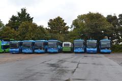 Blue Vectis 7083 WV52HTT - 7036 MV02UML - 7038 MV02UMO - 7033 MV02UML - 202 KDL202W - 7034 MV02UMJ - 7086 NA52RNE - 7044 MV02UMX (Will Swain) Tags: carisbrooke 14th october 2016 beer buses walks weekend south southern island isle wight depot yard bus transport travel uk britain vehicle vehicles county country england english blue vectis 7083 wv52htt 7036 mv02uml 7038 mv02umo 7033 202 kdl202w 7034 mv02umj 7086 na52rne 7044 mv02umx