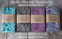 Thank YOU for your support! I'm doing a few special deals over the coming days - today's flash sale is any 3 scarves for a special price- you choose! These make lovely gifts. https://www.morrisessex.com/collections/hand-printed-scarves/products/three-soft (elizajanecurtis) Tags: instagramapp iphoneography uploaded:by=instagram scarf handprinted handmadegift sustainablefashion handmade madeinmaine mainemade gift silkscreen textilegoods screenprint scarves textile pattern design morrisessex morrisandessex bamboo jersey sustainable madeinusa accessories fashion threeseason summer fall winter spring presents present gifts handmadegifts blackfriday blackfridaydeals blackfridaysale thankyoufriday deals package combo sale flashsale studio setof3 affordable affordablegifts