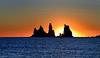 Reynisdrangar Sea Stacks, Iceland (BitRogue) Tags: nikon d800 iceland winter capturenx2 reynisdrangar víkímýrdal vik reynisfjara blackbeach blacksandbeach sea stacks sunset sigma 150mm macro