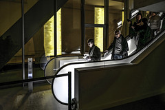 Paris - Fondation Louis Vuitton - Escalator. (Gilles Daligand) Tags: paris fondation louisvuitton escalator leicaq