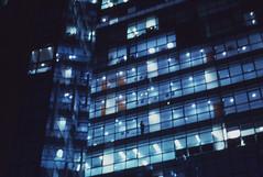 gangnam, korea (Desika Devic) Tags: gangnam korea seoul contax pointandshoot night architecture person dystopia film 35mm windows blue kodak elitechrome street photography