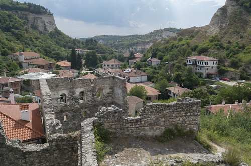 Ruins of Byzantine House and view over Melnik, 25.07.2015.