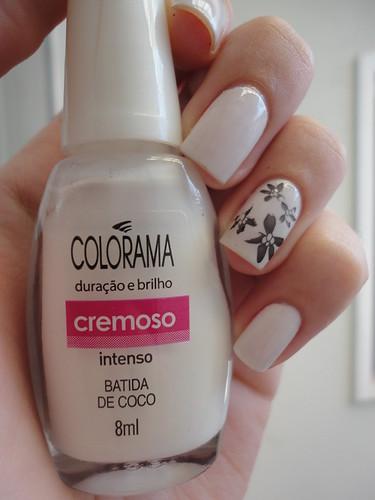 Day 7, Black & White Nails. Batida De Coco, Colorama