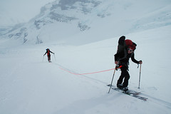 Skinning Up to the Columbia Icefield (Kootenay Hulio) Tags: winter snow canada ski ice spring skiing alberta backcountry banff touring columbiaicefield athabascaglacier