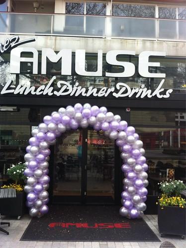 Ballonboog 6m Restaurant Amuse Rotterdam