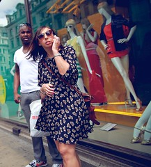 OMG ! It's already Friday 13 th !!!!! (Pierre Mallien) Tags: street uk england urban sun london mannequin girl shop lady shopping fun spring model funny raw colours candid jungle oxford londres british friday rue fille vendredi londonist pitvanmeeffe pierremallien
