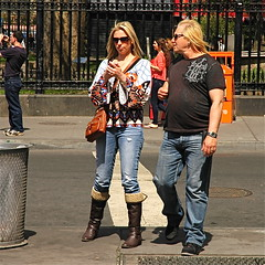 Is it still the sixties? (nikonman3) Tags: life camera city nyc newyorkcity people usa newyork man color colour tower girl photography freedom togetherness photo nikon downtown afternoon d70 d70s american iphoto gotham stroll manhatten 1870 freedomtower nikkor1870 newyorkcityd70s