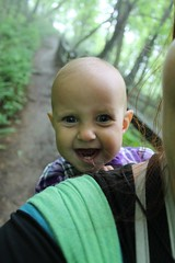 Laughing baby (jocelyndale) Tags: hiking babywearing aenea crabtreefalls georgewashingtonnationalforest