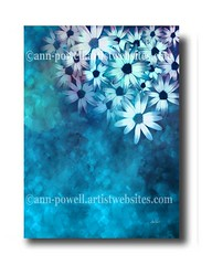 White Daisies on Blue copyright Ann Powell (annpowellart) Tags: flowers abstract flower art floral colorful abstractart contemporary modernart fineart paintings wallart abstracts flowerart annpowell flowerwallart annpowellart trentypainting