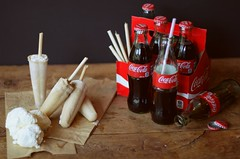 Coke And Ice-Cream Popsicles (JelisaJeffery) Tags: red stilllife food cooking vintage dessert baking yummy rustic pop icecream oldfashioned popsicles foodphotography