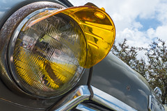 Amber visor (GmanViz) Tags: color detail car lumix automobile mini panasonic chrome cooper headlight lx7 gmanviz