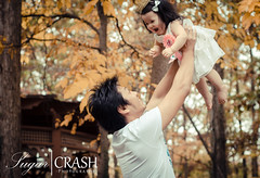 Father and Daughter (OmegaMoth) Tags: birthday family autumn trees portrait color fall love nature smile face happy gold one nikon october emotion expression father daughter happiness excited special celebration event laugh moment firstbirthday dslr excitement familyportrait 2012 cakesmash smashcake d7000 sugarcrashphotography specialmomentnikon