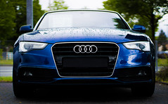 Audi A5 Cabrio (ewka.) Tags: auto blue green eye car rain weather sport race germany deutschland eyes raw dynamic bokeh metallic rainy bse audi cabrio coupe regen wetter sportscar ringe