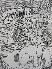 nothing can (Pippypippy) Tags: streetart art moleskine pencil ink painting stars artwork sticker stickerart drawing sketchbook draw gouache pencildrawing