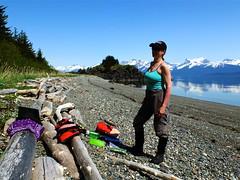 Lunch break (The Cabin On The Road) Tags: alaska forest kayak kayaking seakayak seakayaking lynncanal tongass alaskaseakayaking