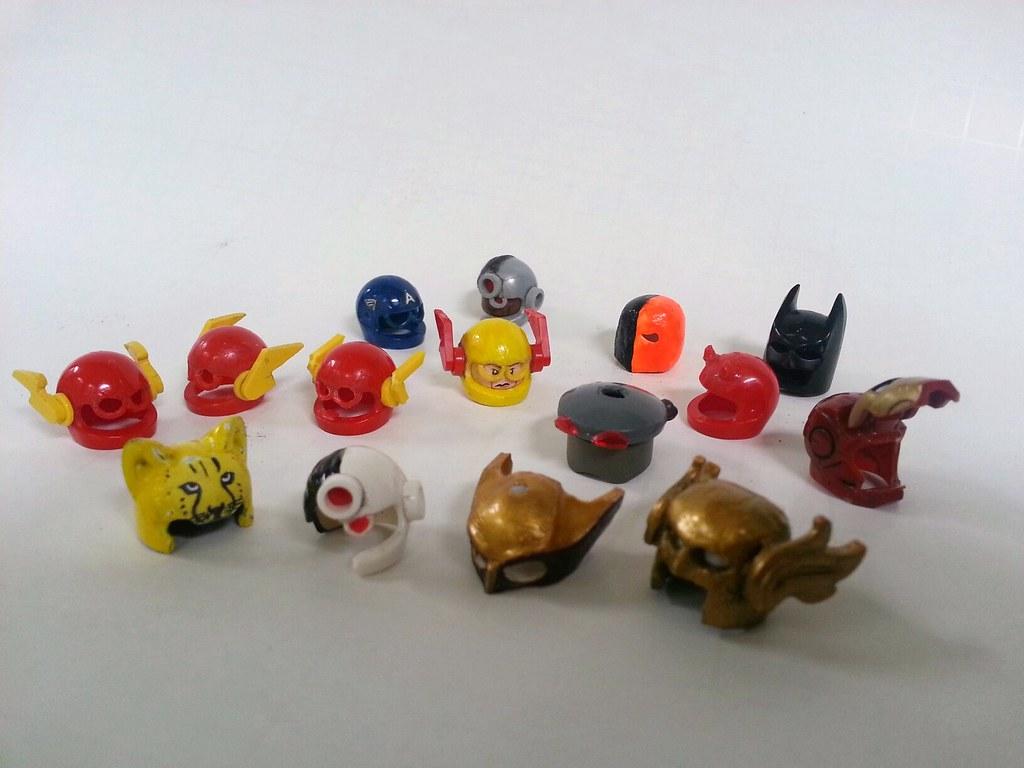 Cowls for days (1upLego) Tags: man black america iron lego flash helmet  captain