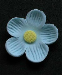Small Blossom No wire Blue 3cm (sweetinspirationsaustralia) Tags: cupcaketoppers