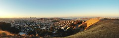 Beautiful San Francisco looks beautiful (at Bernal Heights Park) (spieri_sf) Tags: sanfrancisco panorama bay bernalheightspark uploaded:by=flickrmobile flickriosapp:filter=nofilter