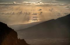Ocean at Sunrise, Haleakala (Erik Pronske) Tags: park clouds sunrise landscape volcano hawaii maui national haleakala hdr haleakalanationalpark