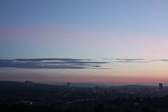 hazy rise (Jack Motley) Tags: city morning summer urban cloud sun colour sunshine clouds sunrise early natural indian sheffield hazy