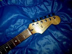 Fender Stratocaster Black 1c (LoxPix) Tags: kent bass guitar workinprogress rick mandolin fender beatle crown custom gibson squire hofner epiphone fernandes teisco bowhunter