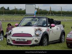 It's a Mini (Paul Simpson Photography) Tags: uk pink white car lady decorative rosie wheels transport mini lincolnshire bmw motorcar fancycar roadvehicle photosof imageof photoof imagesof june2012 paulsimpsonphotography ft11tsu
