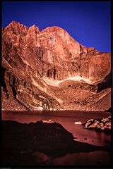Gaschler_-_Colorado-4 (Brian Gaschler) Tags: light lake reflection rock sunrise slidefilm best scan climbing velvia alpine granite rmnp longspeak rockclimbing rockwall rockymountainnationalpark chasm thediamond velvia50 alpinglow longspeakwilderness