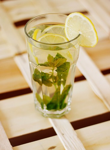 Boiled lemon and mint