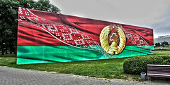Flag and emblem of Belarus (ChristopherNul) Tags: emblem flag alexander belarus minsk nationalism lukashenko