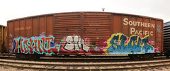 HAUNT SLOM (The Braindead) Tags: art minnesota train bench photography graffiti painted tracks minneapolis rail explore beyond the