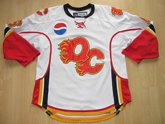 Quad City Flames 2007 - 2008 Game Worn Jersey (kirusgamewornjerseys) Tags: game hockey icehockey worn jersey ahl jersy gwj quadcityflames timhambly