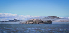 Fog on Alcatraz (Lady_Merrigan) Tags: water fog island san francisco ile prison jail alcatraz brouillard le