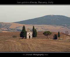 Chiesa della Madonna di Vitaleta (drbob97) Tags: trees summer italy orange holiday tree green church canon warm italia andrea madonna hill models chapel icon hills chiesa val tuscany di siena toscana della tones italie province giuseppe drbob dorcia cattolica sixteenthcentury quirico vitaleta 2013 robbia 40d partini friendsphotography drbob97 dorcias