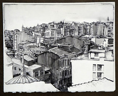 Doug Russell_Travel Drawing_Turkey (russellfineart) Tags: architecture turkey university drawing turkiye istanbul architectural wyoming traveldrawing dougrussell