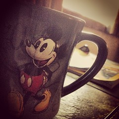 "Mornings with mick. #disney #mickeymouse #coffee #morning #sunrise #keurig #dunkindonutscoffee • <a style=""font-size:0.8em;"" href=""https://www.flickr.com/photos/62467064@N06/9964993965/"" target=""_blank"">View on Flickr</a>"