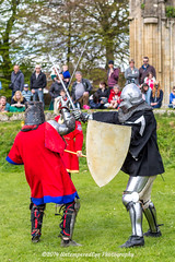 [2014-04-19@13.51.39a] (Untempered Photography) Tags: history costume fight ruins helmet medieval weapon sword knight shield combat armour reenactment skirmish combatant chainmail glastonburyabbey canonef50mmf14 perioddress platearmour mailarmour untemperedeye canoneos5dmkiii untemperedeyephotography battleheritage glastonburymedievalfayre2014