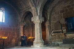 Inside the Church (Dr. Harout) Tags: church archaeology architecture ancient candle sony faith prayer religion christian armenia column amount apostolic dyxum haghartsin haghartsinmonastery tavush sal2875 slta99v