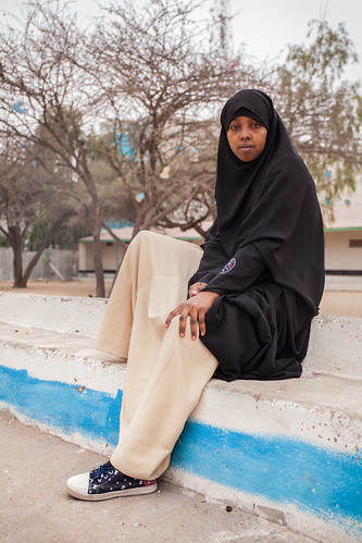 School girl portrayed, Somaliland