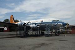 ZS-AUB (IndiaEcho Photography) Tags: africa canon eos airport african aircraft aviation south flight aeroplane historic civil airways douglas rand johannesburg airfield germiston dc4 qra 1000d fagm zsaub