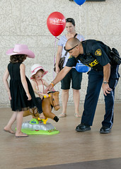 OPP Family Day, 2014 (ontarioprovincialpolice) Tags: horse ontario canada girl kids children fun balloon police cop officer familyday activities employees opp ontarioprovincialpolice
