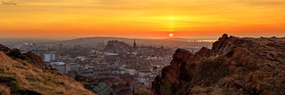 Panoramic Sunset: Edinburgh from the Crags