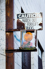 Caution Watch Out (brianlrodgers) Tags: light columbus ohio sign industrial warninglight franklinton