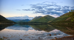 a Scottish loch in silent evening reverie (lunaryuna) Tags: scotland highlands lake mountains reflection mirrorlandscape seeingdouble evening dusk sky clouds fadinglight lochcreran dallachulish eveningmood silence reverie landscape waterscape beauty nature summer season seasonalbeauty lunaryuna ngc