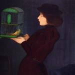 RIPPL-RÓNAI József ,1892 - Femme à la Cage (Budapest) - Detail -b thumbnail