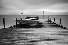 at rest II (neals pics) Tags: my100xbw bw blackwhite monochrome blackandwhite mono 100xthe2016edition 100x2016 image72100 water river boat boats pontoon pier longexposure cloud southend uk coast coastal