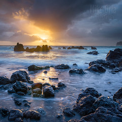 Laupahoehoe Sunrise (mikeSF_) Tags: hawaii islands hawaiianislands laupahoehoe point beach rocks lava aa sunrise sunset waves pacific pacificocean mikeoriaphotography wwwmikeoriacom outdoor pentax k3ii k3 dfa1530