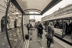 The Bus Arrival -   (Valery Parshin) Tags: saintpetersburg russia stpetersburg ingermanland outdoor street fisheye 8mm samyang valeryparshin